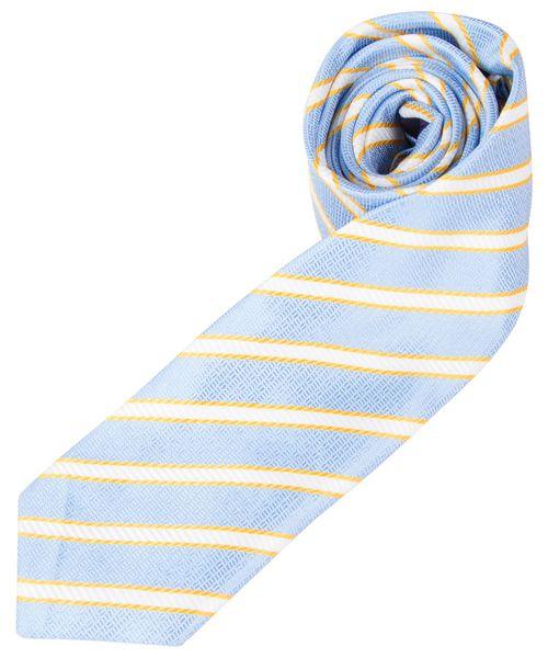 Gravata Masculina Azul Listrada