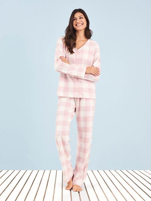 Pijama Soft Aberto Sweet Rose