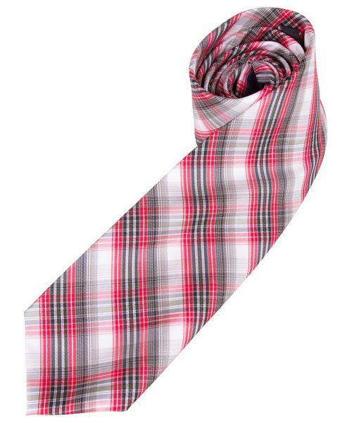 Gravata Masculina Vermelha Xadrez