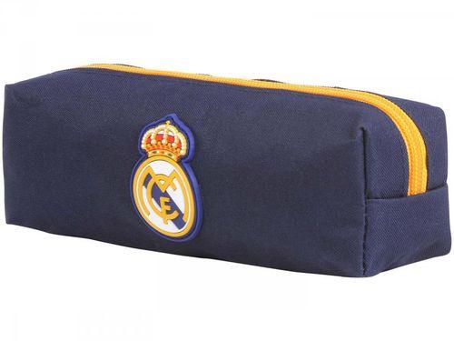 Estojo Escolar Futebol Azul com Zíper Sport - Real Madrid FC DMW