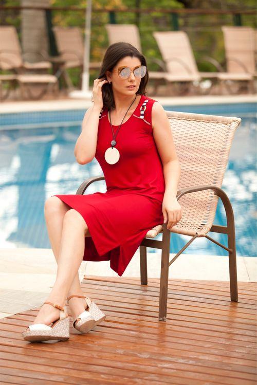 Vestido Pau a Pique Básico Vermelho