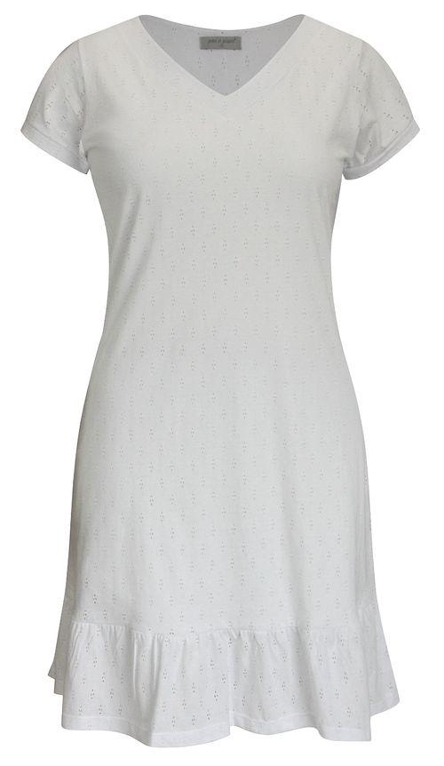 Vestido Pau a Pique Algodão Básico Branco