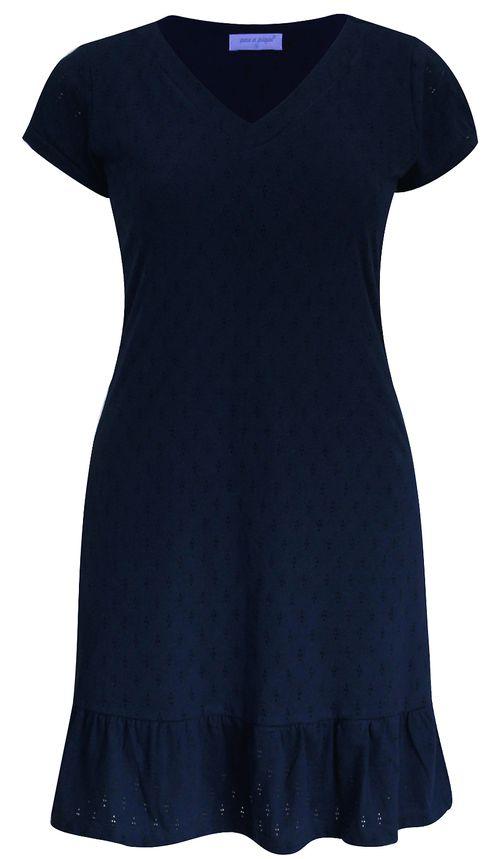 Vestido Pau a Pique Algodão Básico Azul Marinho